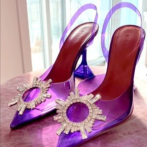 Amina Muaddi Slingback Heels